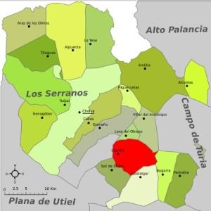 Chulilla comarca serrania